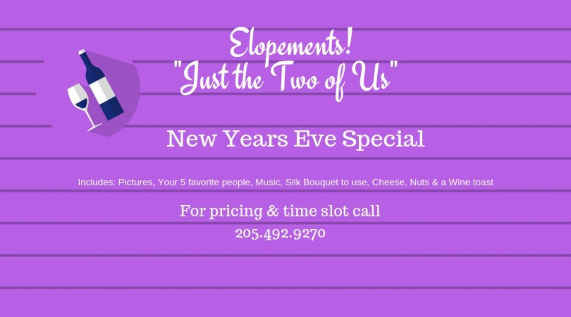 Elopement Special - New Years Eve - Birmingham, AL